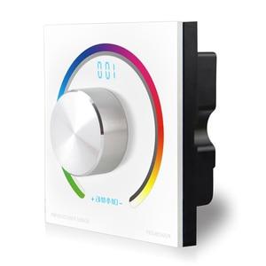 Image 4 - Новый CV RGB поворотный контроллер RGB панель контроллер RF настенное крепление беспроводной пульт дистанционного управления DC 12V 24V для 5050 3528 RGB светодиодная лента