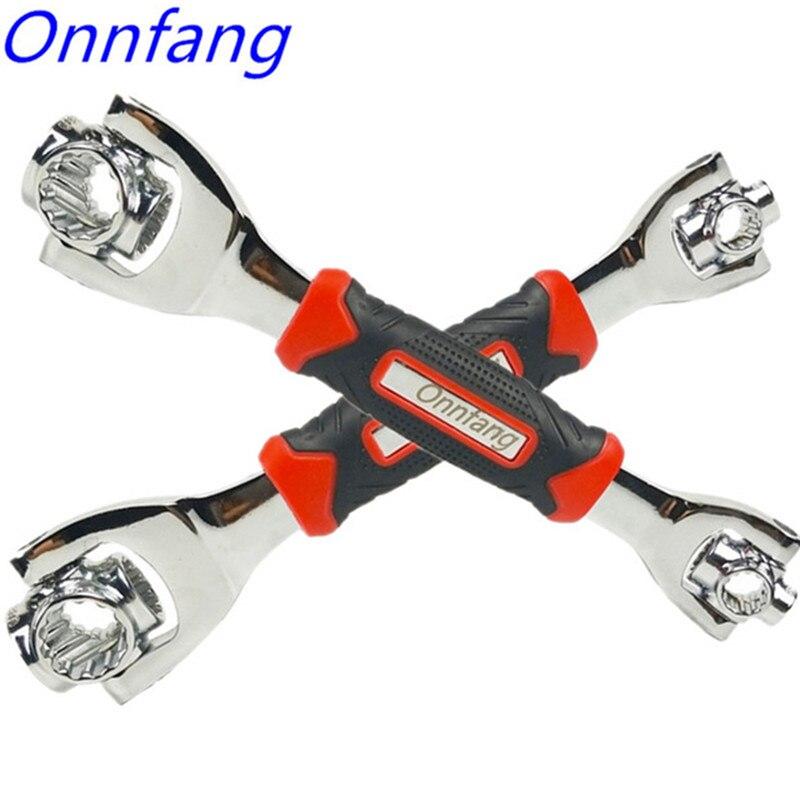48 en 1 llave de tigre herramientas de mano enchufe funciona con pernos de esplin Torx 360 grados 6 puntos muebles universiales llave de reparación de automóviles llave inglesa