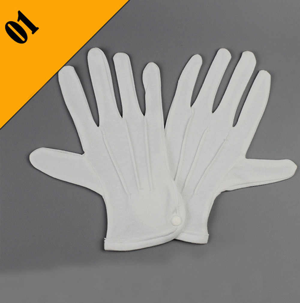 5b14d96af1 Sleeper #5001 1Pair White Formal Gloves Tuxedo Honor Guard Parade Santa Men  Inspection Working cotton accessories Free Shipping