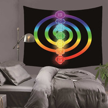 Astrology Tapestry Wall Hanging Abstract Star Picnic Home Decoration Blanket Planet Black Psychedelic Purple Polyester Handmade
