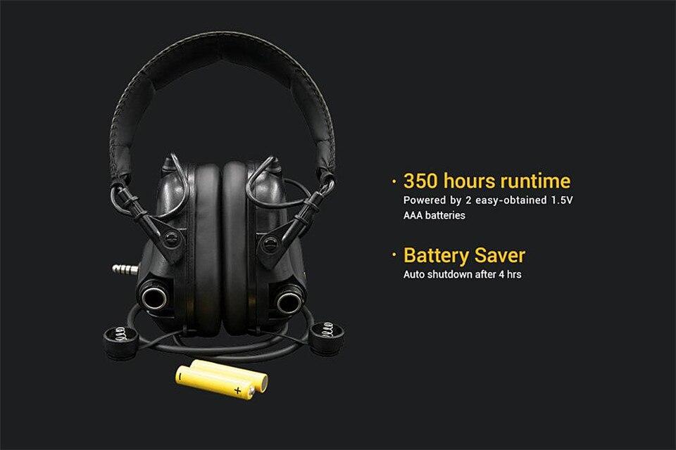 Earmor tático fone de ouvido & conjunto