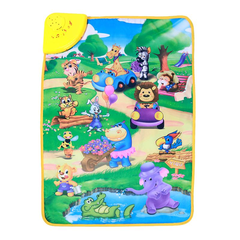 Multi-functional Animals Cognitive Touch Play Music Mat for Baby Music Carpet Russian Musical Blanket Kids Learning Toys Gifts