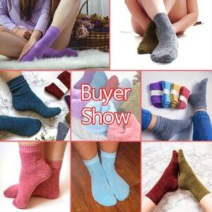 Image 3 - 10 คู่/ล็อต Eur36 42 แฟชั่นผู้หญิงที่มีสีสัน Terry ถุงเท้าหนาถุงเท้าผ้าฝ้าย Combed หญิง s332
