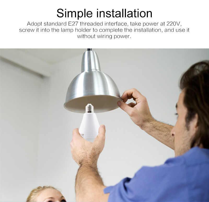 LED Light 960P/1080P Wireless Panoramic Home Security WiFi CCTV Fisheye Bulb Lamp IP Camera 360 Degree Home Security Burglar