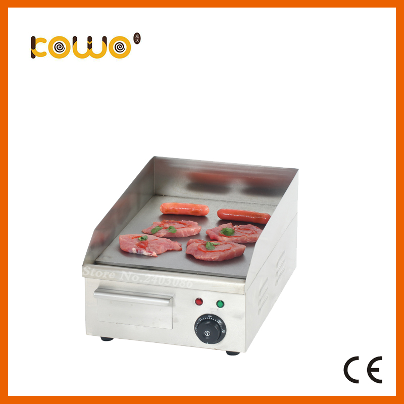 hot sale Commercial kitchen equipment table counter top industrial stainless steel mini electric flat plate grill griddle цена 2017
