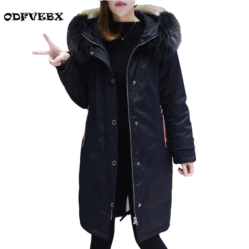 High-quality women down cotton coat female medium long new large winter coat fat mm hooded fur collar thickening coat ODFVEBX new arrival hotsale 2015 fashion winter warm large fur collar down coat medium long demale thickening outerwear