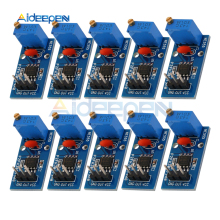 10 шт. NE555 регулируемые Сопротивление Частота импульсный генератор модуль одноканальный Выход модуль 5 V-12 V Для Arduino салона автомобиля