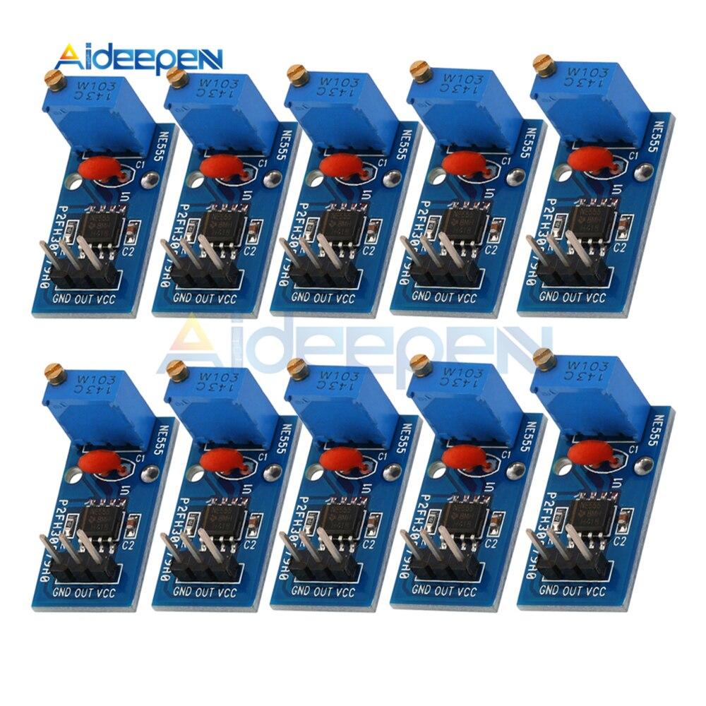10 Pcs Ne555 Einstellbaren Widerstand Frequenz Puls Generator Modul Einzigen Kanal Ausgang Modul 5 V-12 V Für Arduino Smart Auto Starke Verpackung