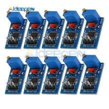 10Pcs NE555 Adjustable Resistance Frequency Pulse Generator Module Single Channel Output Module 5V-12V for Arduino Smart Car недорого