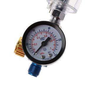 Image 5 - Air Pressure Regulator Gauge Spray Gun In Line Water Oil Trap Filter Separator Kit Tools