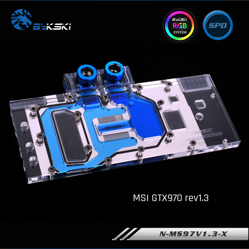 Bykski N MS97V1 3 X Full Cover Graphics Card Water Cooling Block RGB RBW for MSI