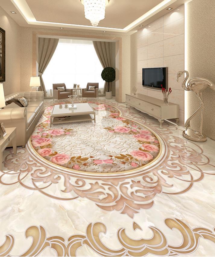 3d floor tiles customized art wallpaper parquet shading 3d - Parquet su piastrelle ...