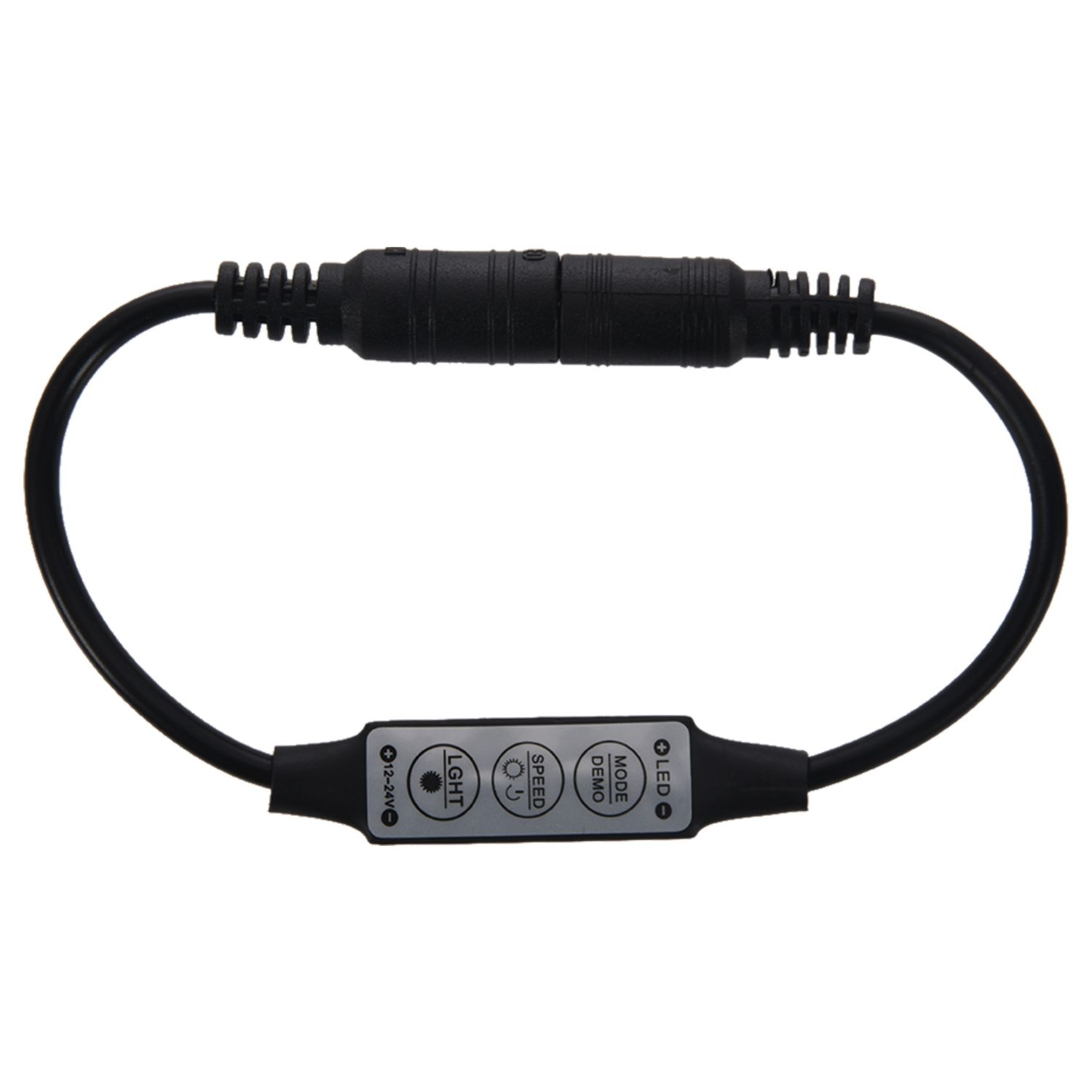 Top Quality Low-profile Inline Controller Mini 3 Key Dimmer Switch For LED Strip Light Black
