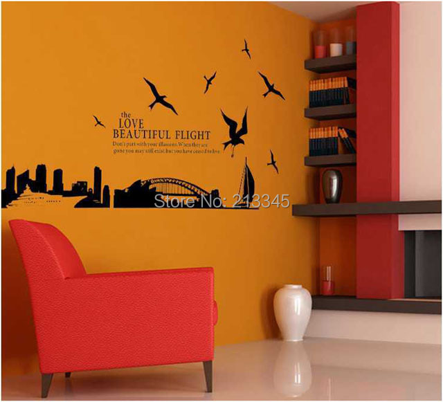 Fundecor sydney harbour bridge in australia fashion home decoration wall stickers art deco Home decor wall decor australia