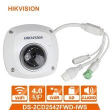 Оригинальная ip-камера HIKVISION DS-2CD2542FWD-IWS международная версия 4MP Обновленная камера видеонаблюдения WDR купольная сетевая камера