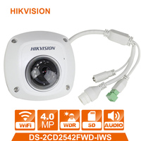 Original HIKVISION DS 2CD2542FWD IWS IP Camera International version 4MP Upgradable CCTV camera WDR Dome Network Camera