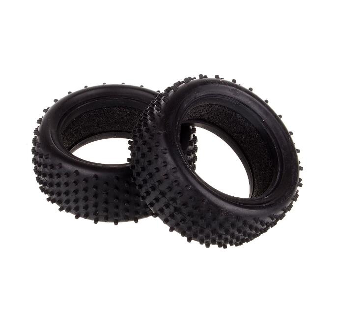 2pcs 1/10 RC Buggy front tires skin OFF-ROAD front tyre skin with foam fit for HSP REDCAT OFF-ROAD 94107 2pcs 1 10 rc buggy front tires skin off road front tyre skin with foam fit for hsp redcat off road 94107