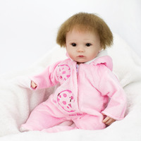 Baby Girls Doll Toys 41CM Soft Silicone Doll Simulation Of Regenerated Girl Dolls With Soft Cloth