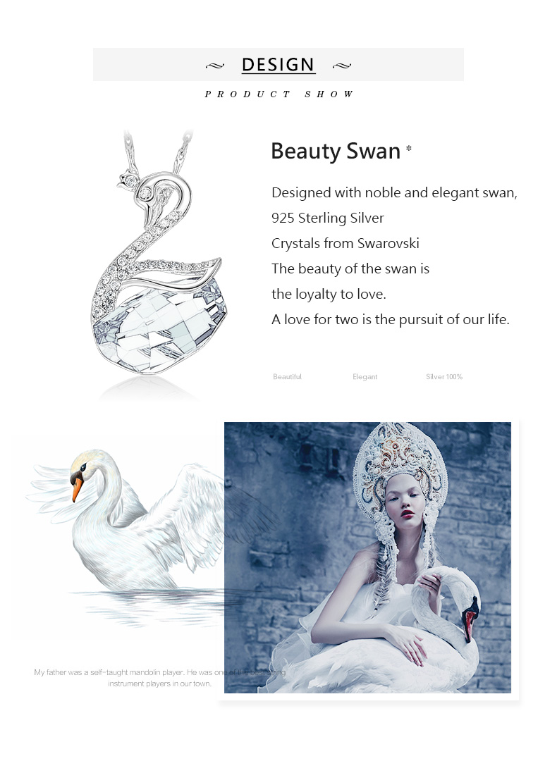 Swarovski Swan Necklace Earrings Set (2)