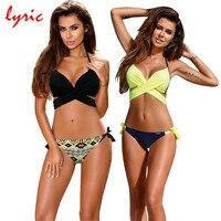 Lyric Hot Bandage Bikini Set 2017 Swimsuit Tanga Bottoms Swimwear Women S Swimming Suit Strappy Brazilian