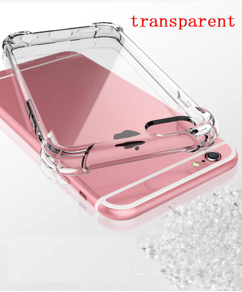 Super Shockproof CLEAR Soft Case สำหรับ iPhone 5 5 5 6 7 8 PLUS 6SPlus 8 PLUS X XR XS 11 PRO MAX ซิลิกอนโทรศัพท์มือถือปกหลัง