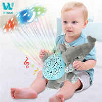WINCO Baby Sleep Plush Toys LED Lighting Stuffed Animal LED Night Lamp With Music Star Projector Light Baby Toys For Children