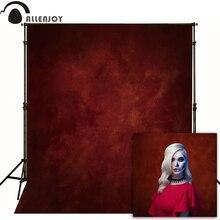 Allenjoy fino pano de vinil fotografia fundo vermelho foto para estúdio pura cor photocall casamento dia das bruxas natal