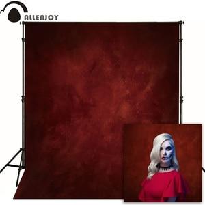 Image 1 - Allenjoy דק ויניל בד צילום רקע אדום תמונה רקע סטודיו טהור צבע שיחת וידאו חתונת ליל כל הקדושים חג המולד