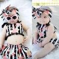 2016 Новая Мода Детская Одежда Набор Девочка Устанавливает Комбинезон + Юбки + Новорожденных bebe Лето Baby Girl Одежда