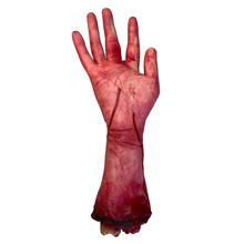 1pcs Hallowen Broken Foot Handmaded Decorative Scary Creative Blood Broken Hand Severed Bloody Hand for Halloween Party Men(China)