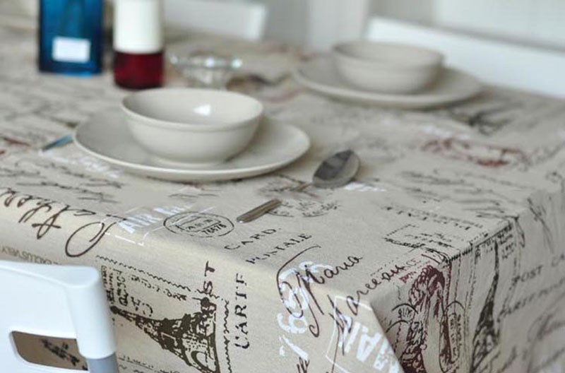 GIANTEX Tower Print Decorative Table Cloth Cotton Linen Lace Tablecloth Dining Table Cover For Kitchen Home Decor U0996 6