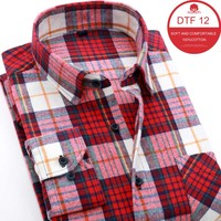 US Euro Size XS 3XL 2016 Hot New Men Plaid Long Sleeved Casual Shirts Flannel Slim