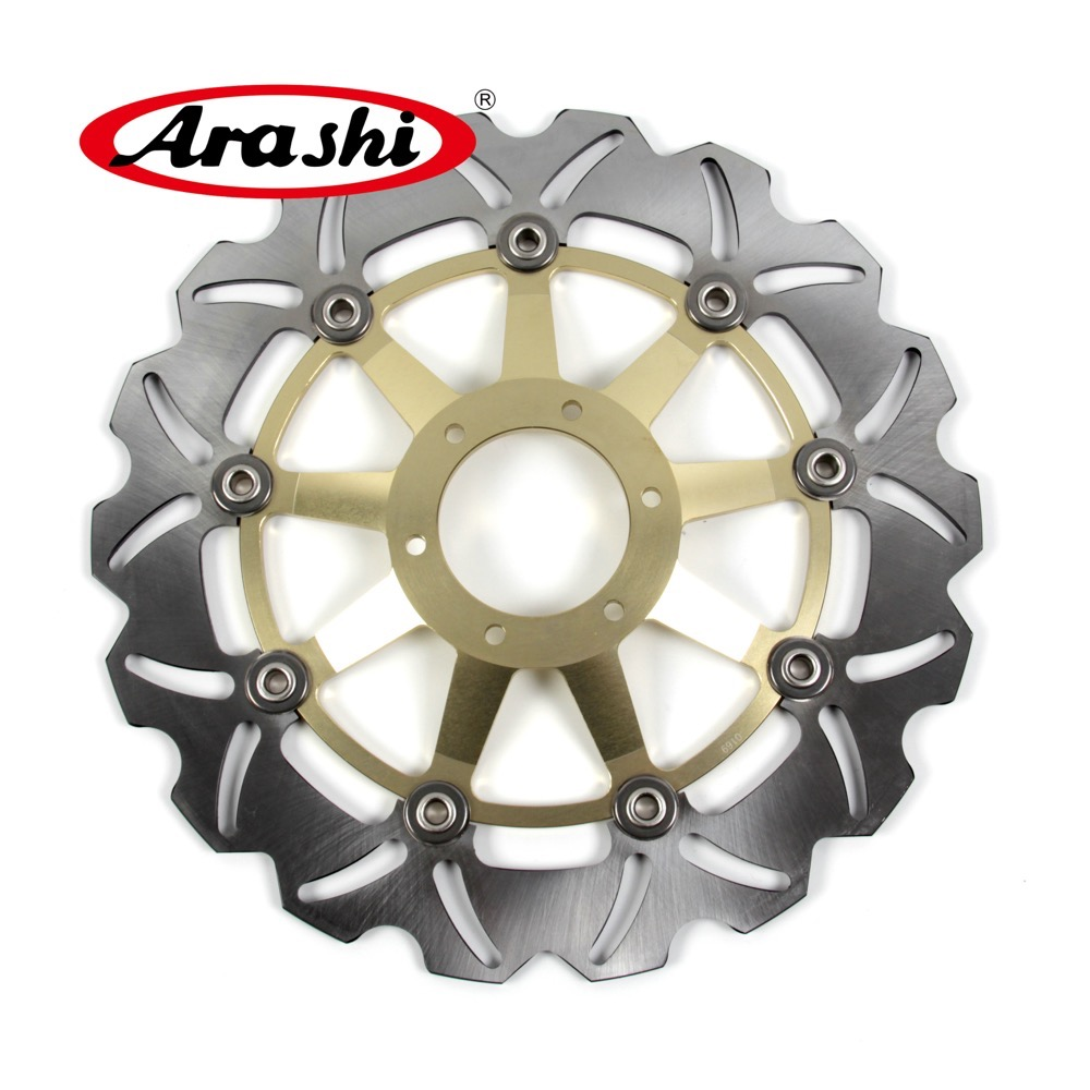 Arashi 2PCS For HONDA VFR VTEC 800 2002-2013 VFR800 Front Brake Disc Brake Rotors 02 03 04 05 06 07 08 09 2010 2011 2012 2013