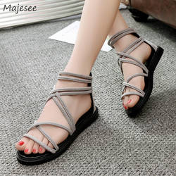 Сандалии Для женщин молния плоская подошва Высококачественная обувь на платформе Для женщин s универсальные корейский стиль ретро крышка