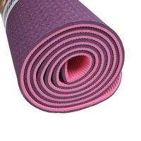 WEING yoga mat Kaliteli Katlanır kaymaz Yüzey Hafif Rahat 6mm Doğal Kauçuk TPE yoga matı ile Başlayanlar için çanta
