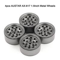 4pcs AUSTAR AX 617 1.9inch RC Metal Wheels Hub Rim Set for Axial SCX10 RC4WD D90 1/10 RC Car RC Parts Accessories
