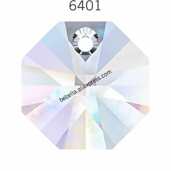 1 piece of 100% original Crystal from Swarovski 6401 Octagon Pendant loose beads stone retail for jewelry making