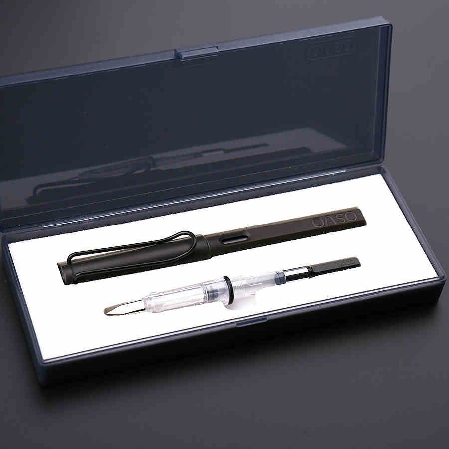 Free Shipping 1 Pcs/Lot Appearance Simple Color Fountain Pen Suit for Student to Writing 0.5mm and 0.38mm Nib Combination