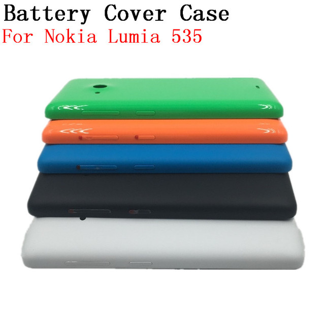 best service 4cea8 ba5c1 US $4.48 |RTBESTOYZ Original Back Cover Case For Microsoft lumia 535  Genuine Battery Cover Replacement For Nokia lumia 535-in Mobile Phone  Housings ...