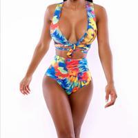 Africa Bikinis Set Vintage Bathing Suit Swimsuit Brizilian Sexy Retro Style Swimming Beach Printed Bandage Wear