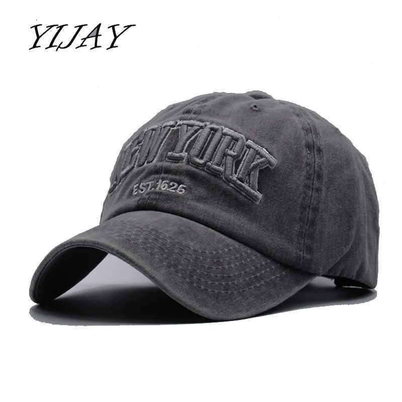 2d0b2f5bcf3 Yijay sand washed 100% cotton baseball cap hat for women men vintage dad hats  NEW