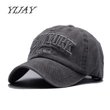 d2fd2059ec7ff Yijay sand washed 100% cotton baseball cap hat for women men vintage dad  hats NEW YORK embroidery letter outdoor sports caps