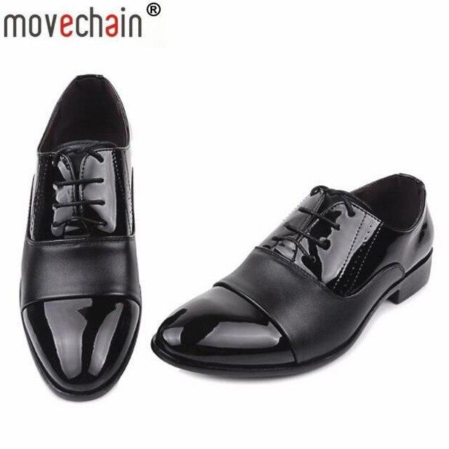 Scarpe Per Matrimonio Uomo : Movechain fashion lace up scarpe da sera in pelle per uomo