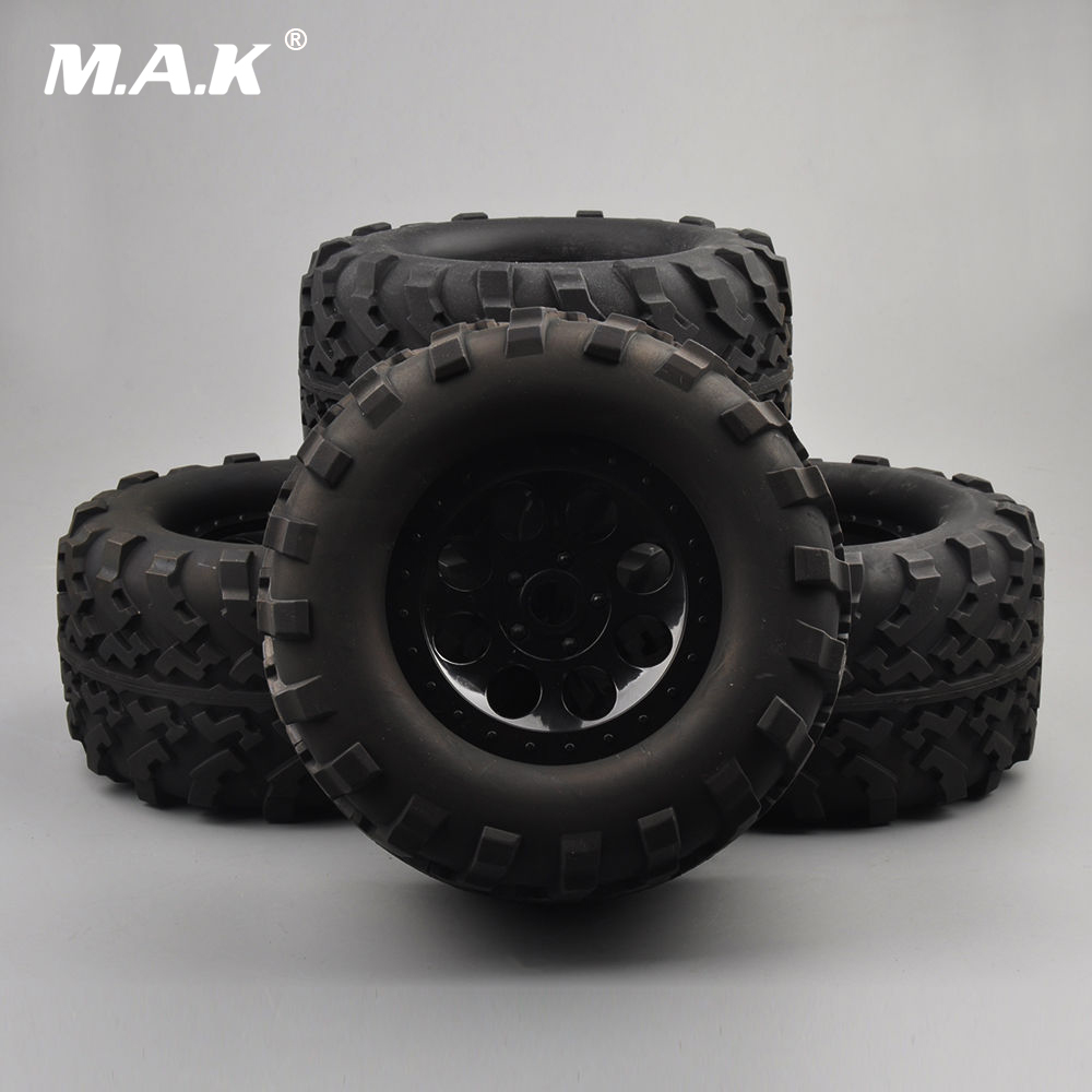 160mm 17mm Hex RC Accessory 1:8 Tire Rims 4Pcs For Bigfoot Monster Truck Traxxas Summit E-Revo Car HPI 4pcs set rc parts 12mm hex bead loc short course ruber tire rims for hpi hsp rc 1 10 traxxas slash