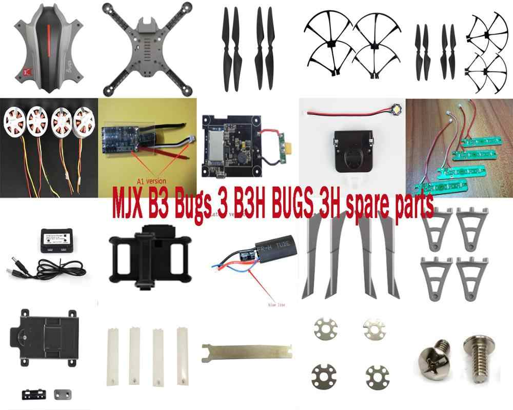 MJX B3 Bugs 3 B3H BUGS 3 H 2.4G RC Quadcopter onderdelen motor ESC body shell propellers blade guard landingsgestel light charger