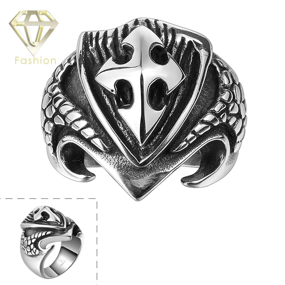 men from rings mayan sword shield steel cross and ancient squama ring jewelry necessary real dragon item stainless scale in mystery