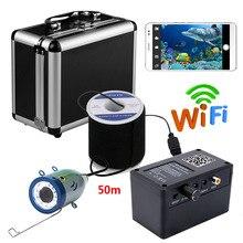 PDDHKK Wifi беспроводной рыболокатор подводная рыболовная камера без монитора для зимней рыбалки с 12 белыми светодиодами