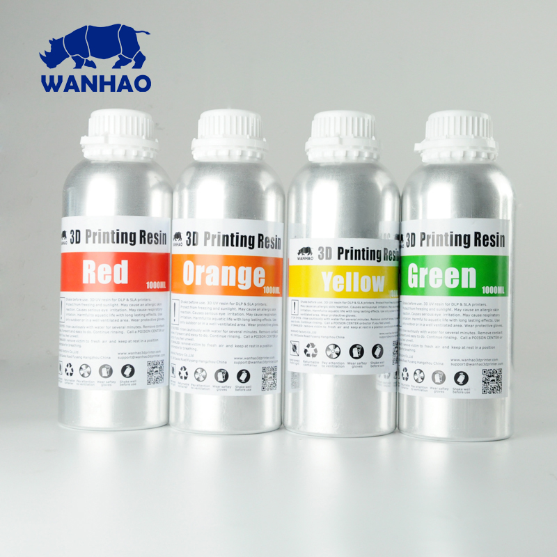 405NM UV Photopolymer Resin For Wanhao D7 3D Printer DLP SLA 3D Printer Resin Cheap Price New Aluminium bottle 2L(1000ml/bottle) green uv 405nm photopolymer resin 1000 ml for wanhao duplicator 7 d7 lcd sla 3d printer