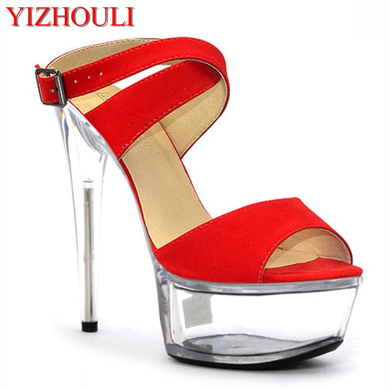 Spring new 15cm high heels, sexy crystal heel, European and American nightclubs Dance ShoesSpring new 15cm high heels, sexy crystal heel, European and American nightclubs Dance Shoes