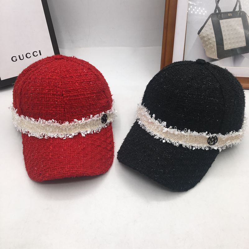 Spring, summer, autumn new small sweet wind knitting female baseball cap hat cap han edition joker students cap equestrian cap lady s skullies womail delicate pregnant mothers soft velvet cap maternal prevention wind hat w7